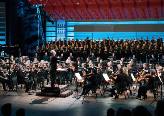 """Fra oppførelsen av Berlioz' """"Requiem"""" under Festspillene i Bergen 2018"""