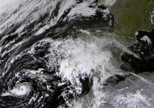 Hurricane Vince off Spain