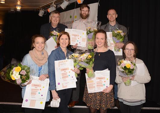 vinnere fra forskningspresentasjoner 2015