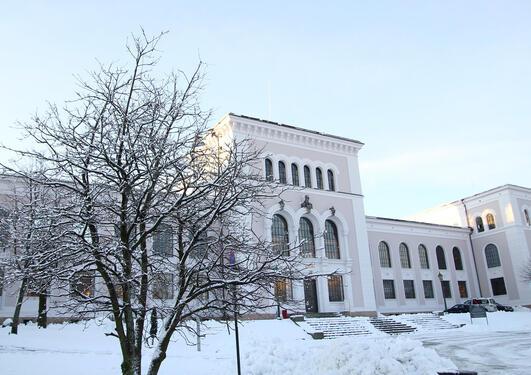 University museum of Bergen in snow