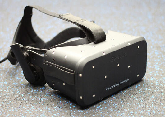 Photograph of a VR headset.
