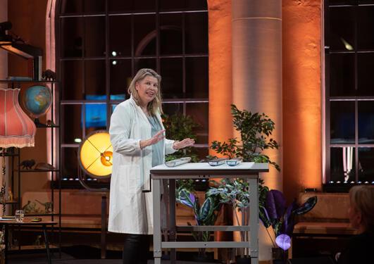 Kikki Kleiven under Aarebrotforelesningen 2021