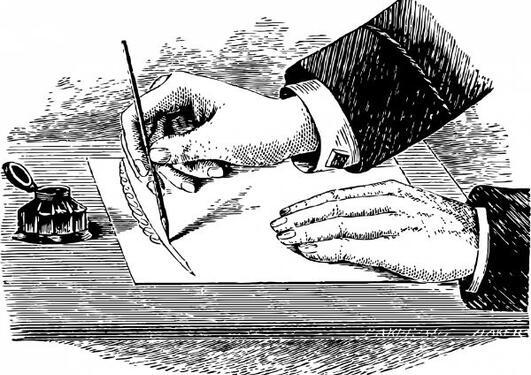 Writing hands