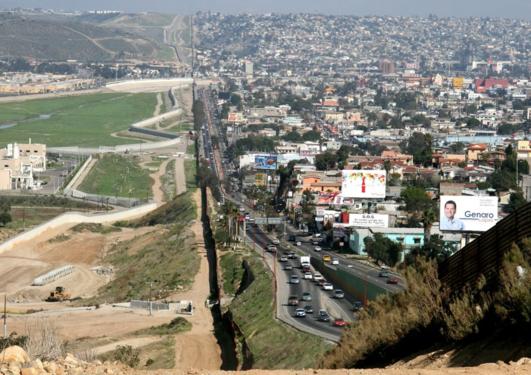 The Mexico-USA border