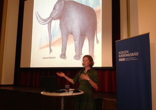 Emma Marris, journalist og forfatter av boken «Rambunctious Garden», holdt...