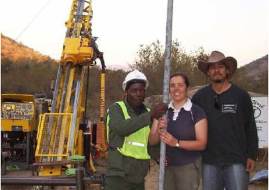 a three meter section of Archean drill core from the Barberton Scientific...
