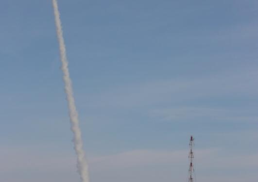 ESA-raketten REXUS 6  (med NISSE ombord) skytes ut i rommet.