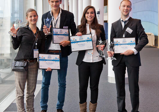 "The winner of the Sci-preneurship 2011 contest was ""Fresh Meat"", with Maite..."