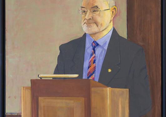 Arvid Pettersen: Portrett av Sigmund Grønmo