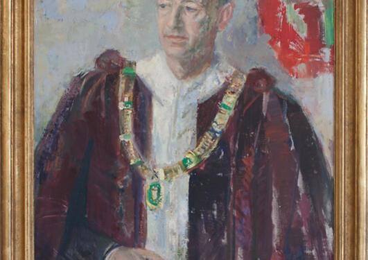 Agnes Hiort: Portrett av Erik Waaler, 1960