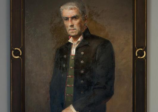 Per Lundgren: Portrett av Ole Didrik Lærum, 1996
