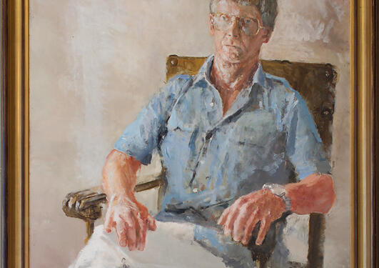 Hans Olav Ottersen: Portrett av Ørjar Øyen, 1983