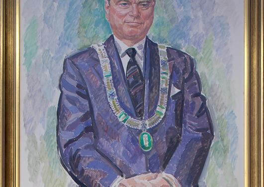 Bjørn Tvedt: Portrett av Arnfinn Graue, 1990