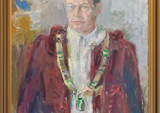Agnes Hiort: Portrett av Håkon Mosby, 1971