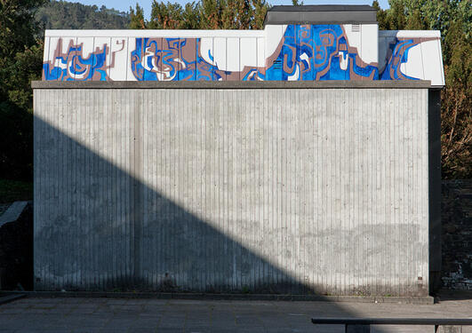Zen: Gatekunst på høydebassenget, Realfagbygget