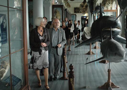 I september 2009 ble museumsplanene presentert for statsråd Tora Aasland.