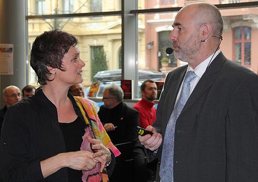 Stortingspresident Dag Terje Andersen møtte mellom anna professor Siri...