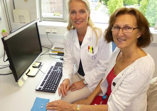 Kristin Klock, Helene M. Tvinnereim (right)
