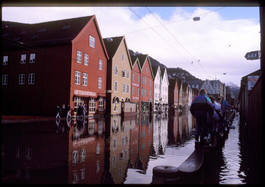 Ved byplanlegging må en i dag ta hensyn til overvann og potensielle...