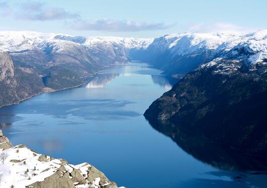 Illustrasjonsfoto brukt ifm sak om hvordan skandinaviske fjordlanskap er...