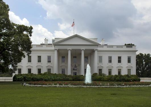 Illustrasjonsfoto av Det hvite hus i Washington DC, USA. / Stock photo of the...