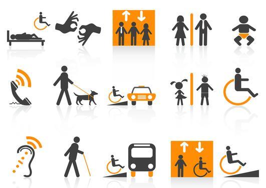 Bildet illustrerer ulike typer for tilrettelegging.