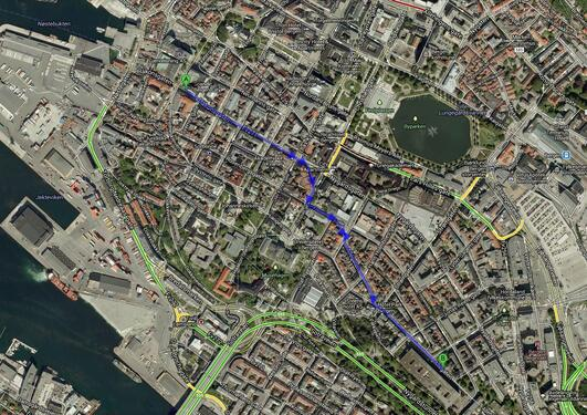 Directions: Scandic Hotel to The Science Building (The University of Bergen)
