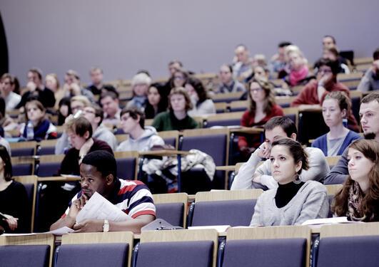 Oversiktsbilde fra internasjonalt studentmottak 5. januar 2012