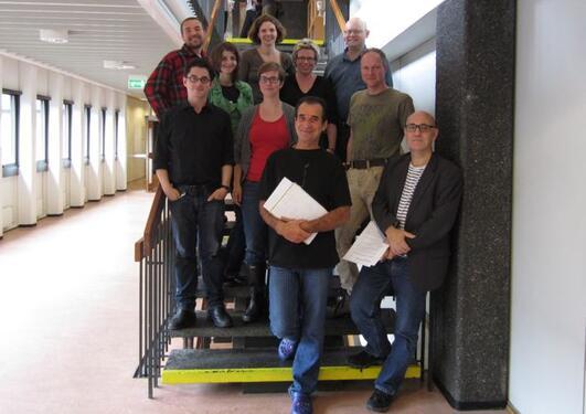 Her er alle som underviser i digital kultur høsten 2011 samlet: Davin Heckman...