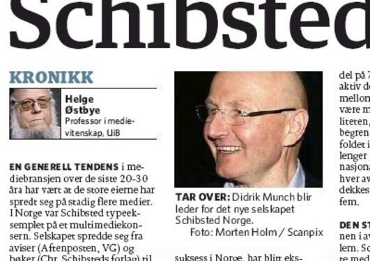 Faksimile Dagbladet 22. februar 2012.