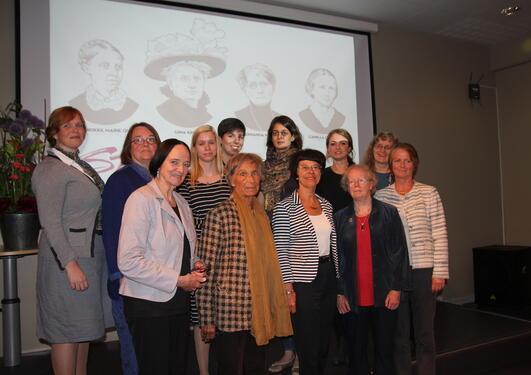 Deltakerne i forskerstafetten fra venstre: Anne-Hilde Nagel, Tone Hellesund,...