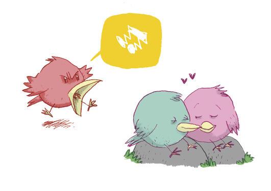 Fuglesang er ikke like idyllisk for fuglene selv.