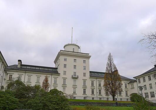 Geofysisk institutt, sett frå sør