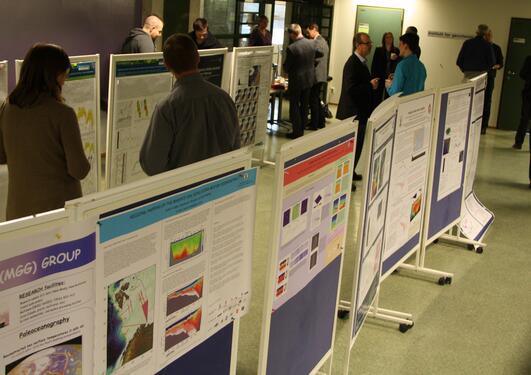 Institutt for geovitenskap viste frem relevant forskning for oljenæringen og...