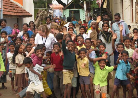 Global Health students in India