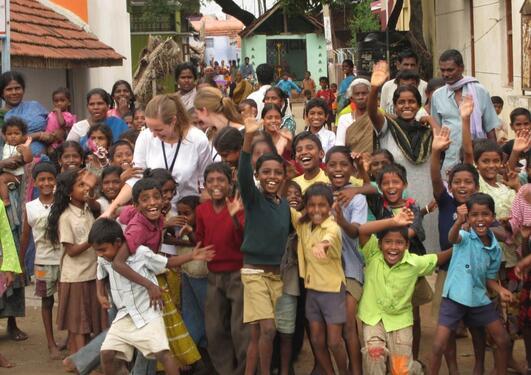 Studenter på feltopphold i India