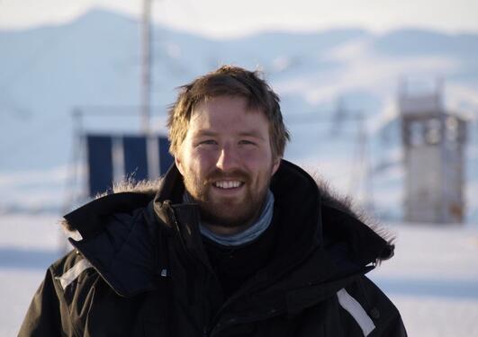 På feltarbeid i Ny-Ålesund