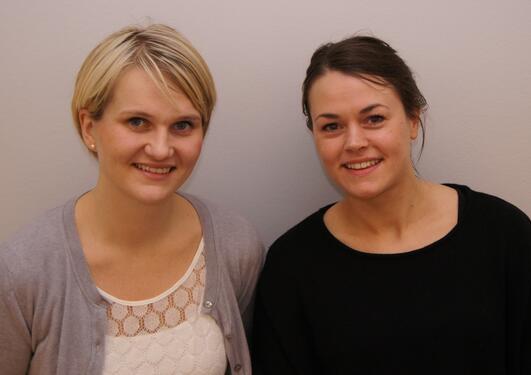 Guro Årdal (t.v.) og Marit Schmid var ansvarlege for den første av vonaleg...