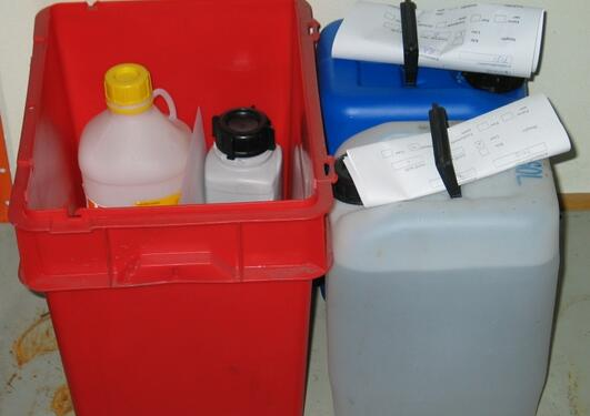Disposing of hazardous waste.
