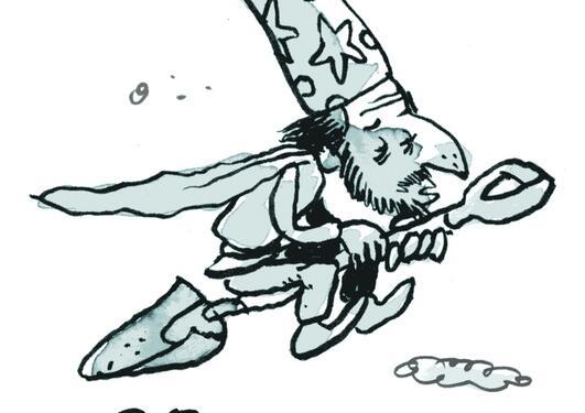 Illustrasjon brukt ifm saken Heks med bart fra spalten I Mosen i Hubro 01/2013.