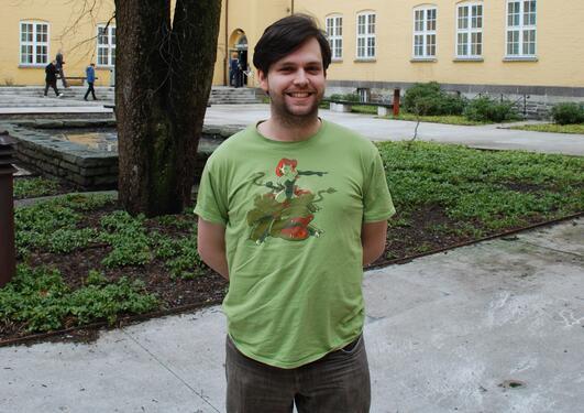 Mattias James Atteraas Allard (26) is a linguistics student