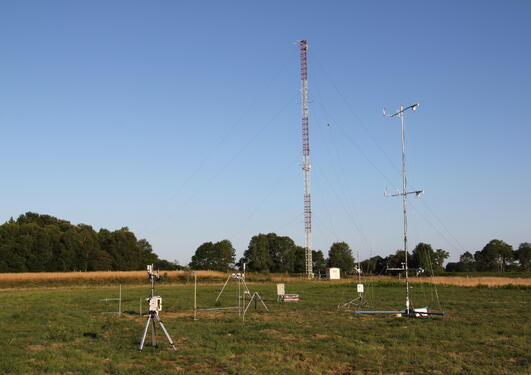 Energy balance station of GFI deployed during the BLLAST field campaign in...