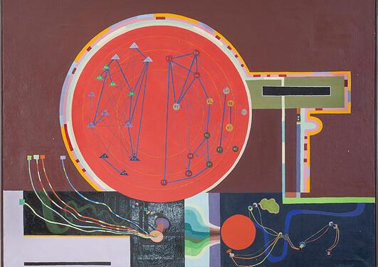Ingvald Holmefjord, 1968. Olje på lerret, 91 x 122 cm.