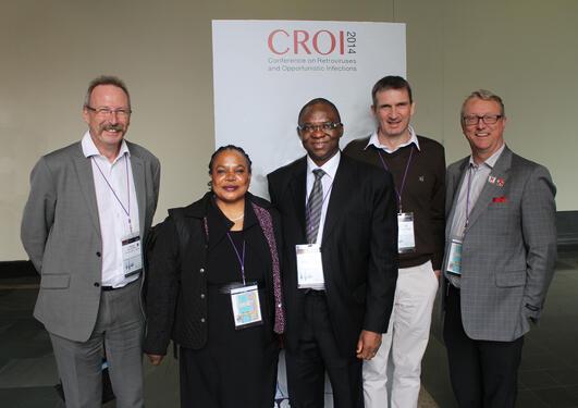 De som var tilstede på CROI-konferansen fra studieteamet: fra venstre...