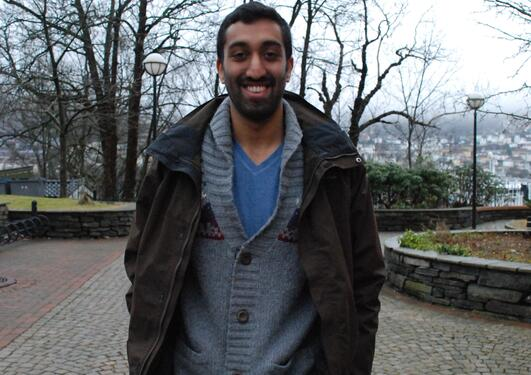 Abhilash Madathiparambil (22) is an exchange student at The Faculty of Law