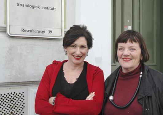 Asuncion St. Clair og Kari Wærness ved Sosiologisk institutt nøler ikke med å...