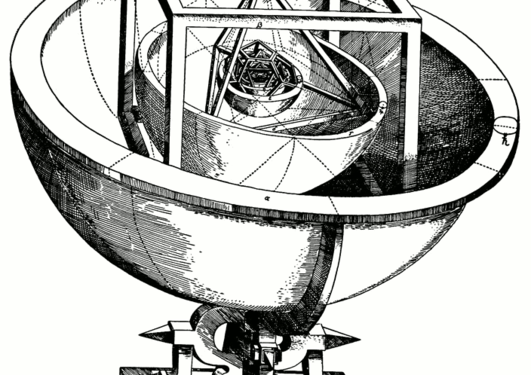 Kepler's Platonic solid model of the solar system from Mysterium...