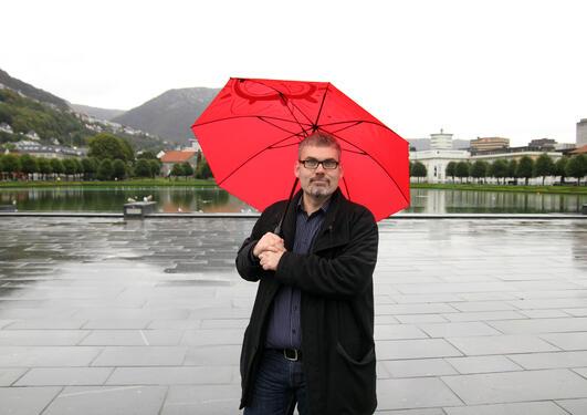 Jørgen Flint, leiar for Forskingsdagane i Bergen inviterer til Kunnskapsfest...