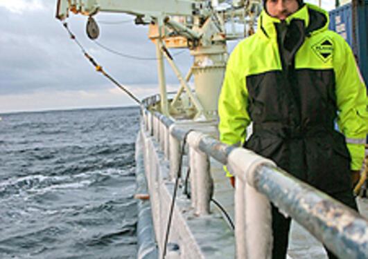 Postdoktor Kjetil Våge på ekspedisjon.