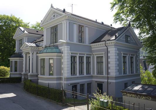Villaveien 9, Knut Fægris hus Foto: Irene Heggstad Copyright: UiB.